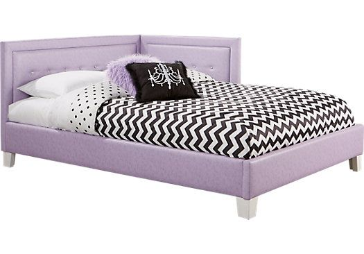 Shop For A Lucie Lavender 4 Pc Twin Corner Bed At Rooms To Go Kids