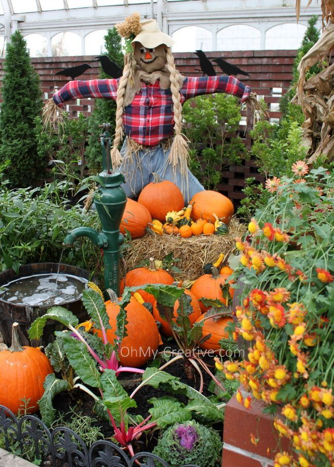 Everything You Love About Fall Can Be Seen In This Beautiful Fall Garden  Tour Including A Large Variety Of Mums And Garden Decor Ideas!