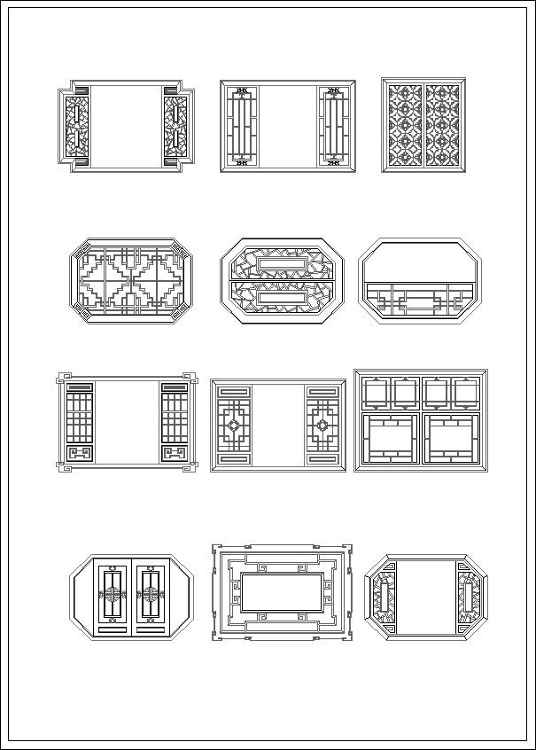 Architectural Drawing Window chinese window drawing – cad design | free cad blocks,drawings