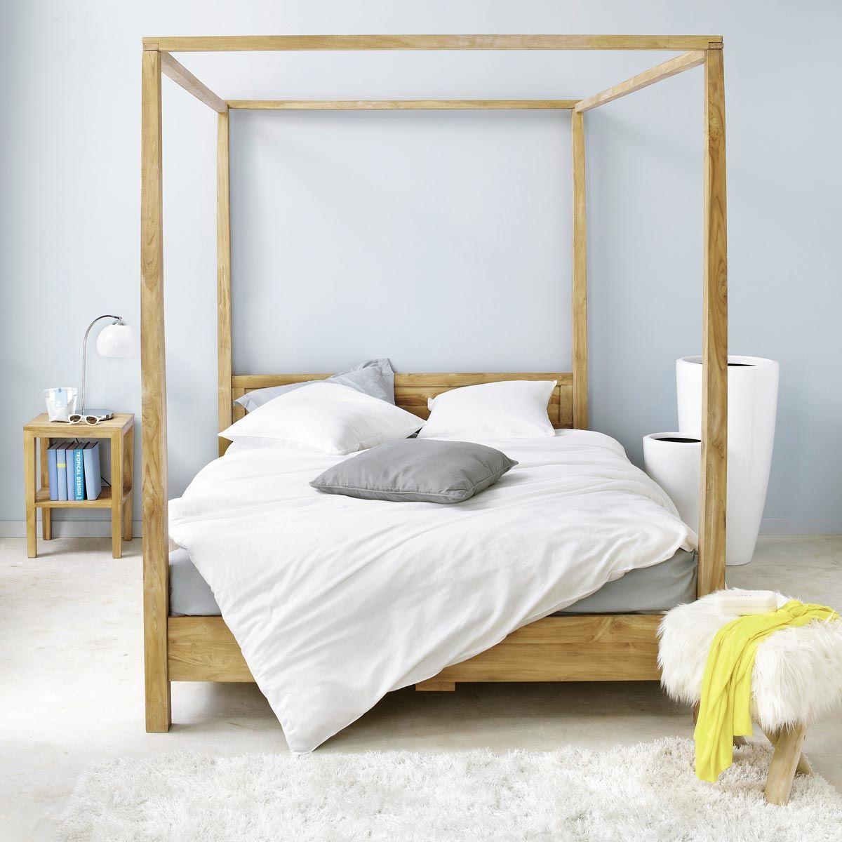 Letto a baldacchino 160 x 200 in acacia Bed design