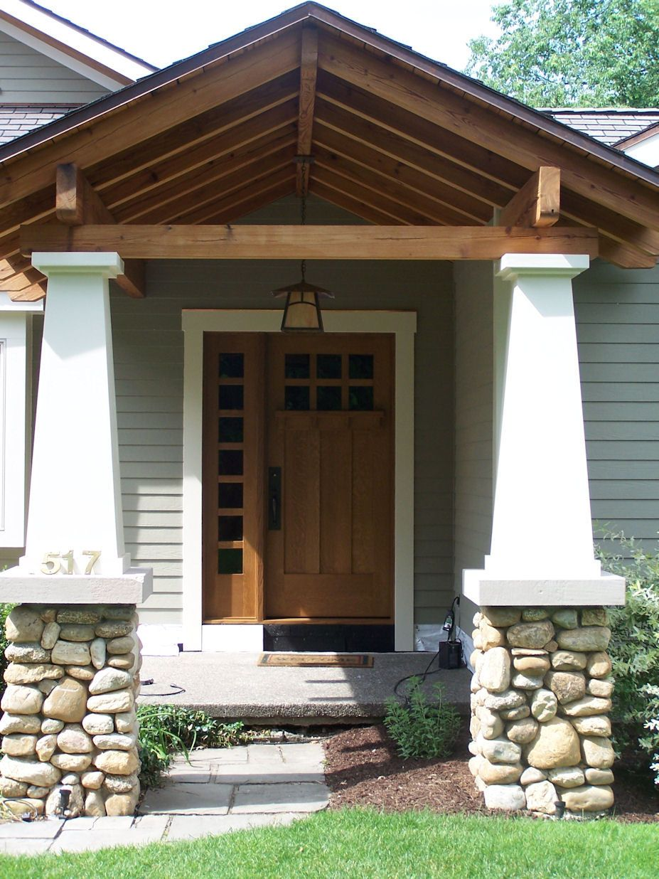 Craftsman Front Doors Craftsman Porch Facade House: Heart Of Oak Workshop, Authentic Craftsman & Mission Style Doors Furnishings And Interior