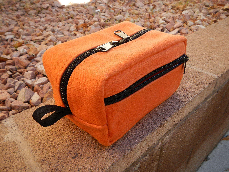 b200569c30a5 Medium Orange Dopp Kit, Travel Kit, Toiletry Bag, Camo Pouch, Tool ...