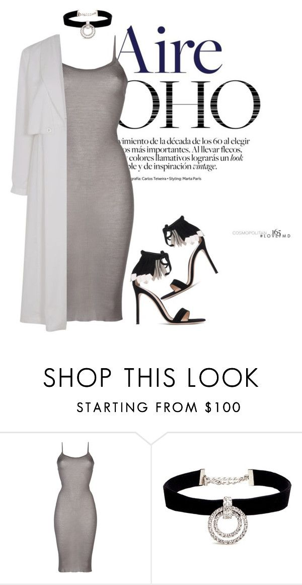 """""""Cham"""" by noor-alhoda ❤ liked on Polyvore featuring Rick Owens, Topshop, Kenneth Jay Lane and Gianvito Rossi"""
