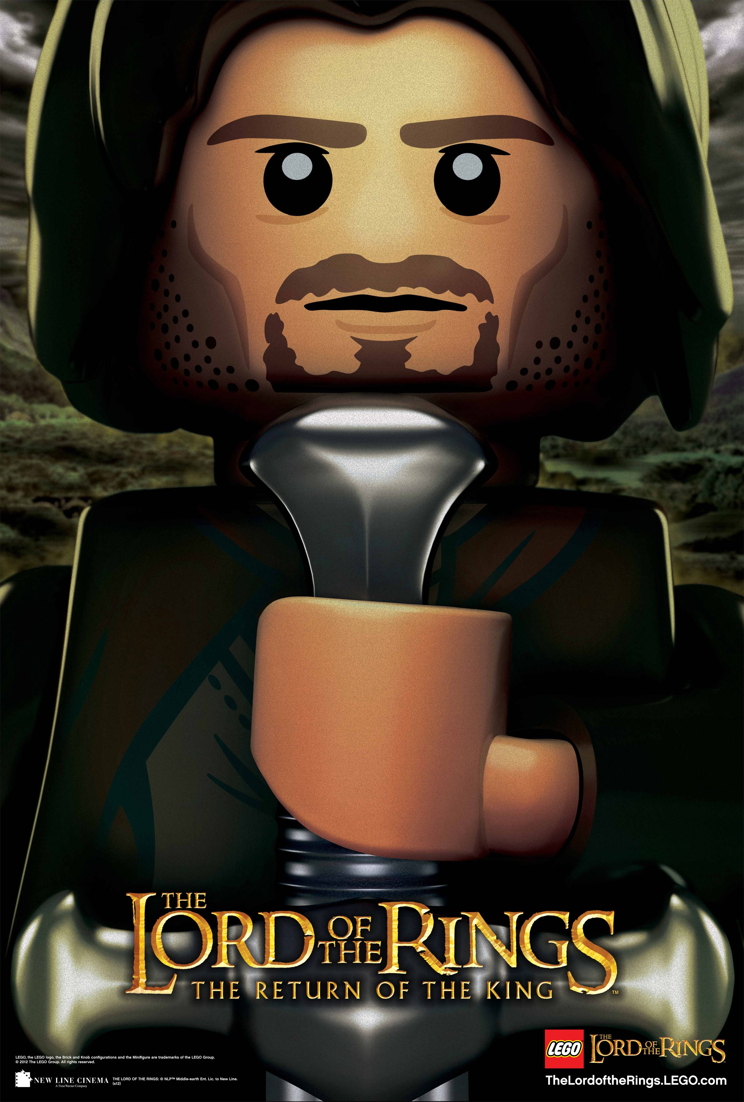Lego Version Of The Return Of The King Poster Damn He Looks Good