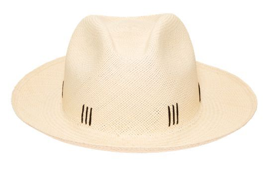 """The Cuzco takes authentic Toquilla straw and shapes it for comfort and style. Linear-pattern stitching adds a unique contrast to this effortlessly cool design. Handmade in Ecuador from 100% Toquilla straw Shape: 'Clasico' Panama hat Brim size: 2.8"""" Color: Natural Detailing: Black stitched linear embroidery Size-adjustable inner band"""