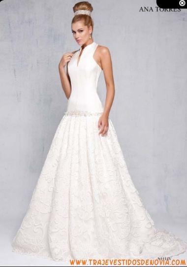 n1114v vestido de novia ana torres | vestidos de novia palencia