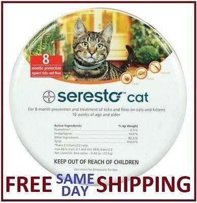 Seresto Flea & Tick Collar For Cats Flea and tick, Fleas