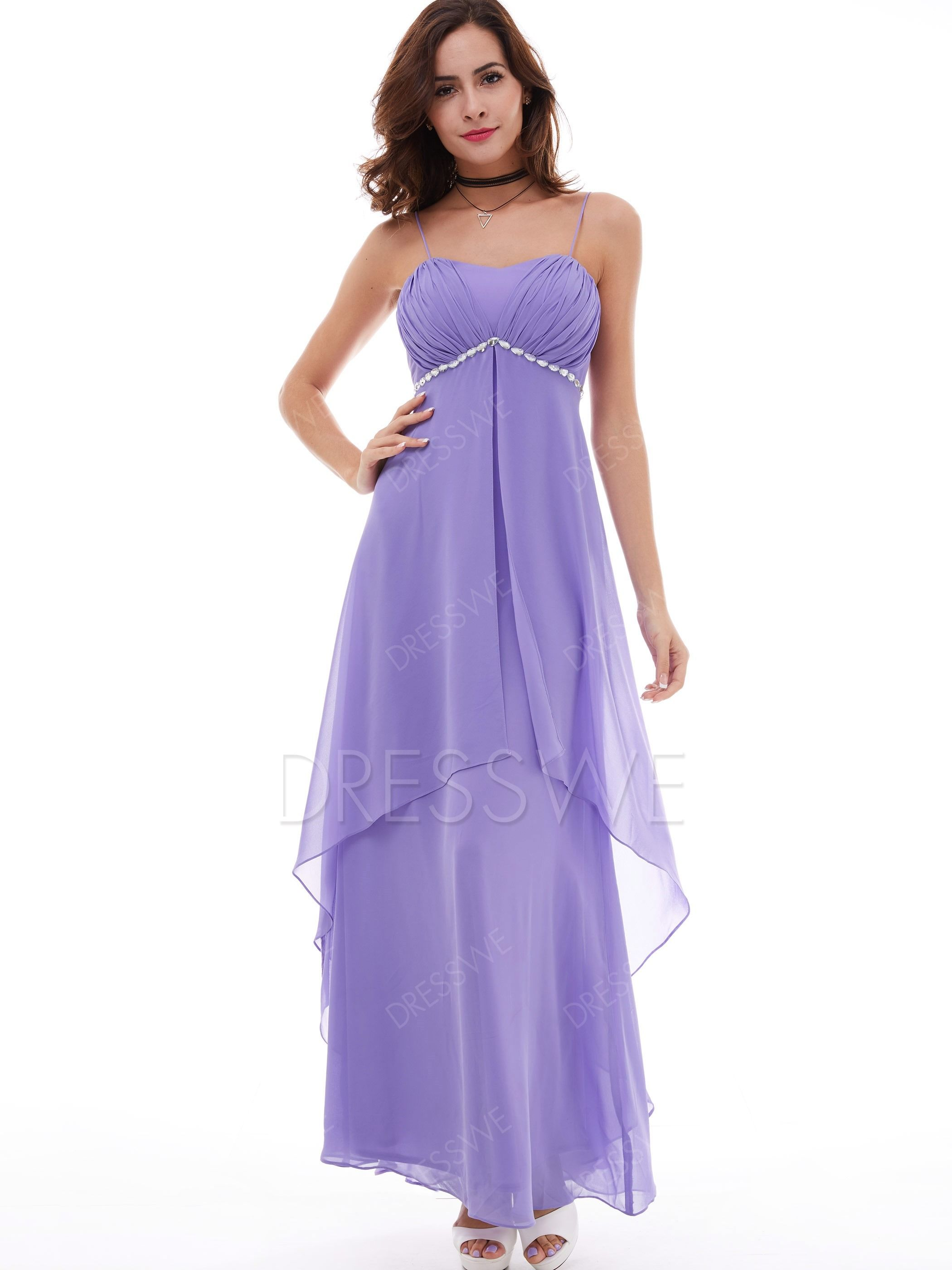 Buy A Line Spaghetti Straps Empire Waist Beaded Evening Dress Online bd03faba903f