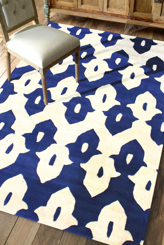 Rugs Usa Tuscan Palace Ikat Trellis Cobalt Blue Rug 145