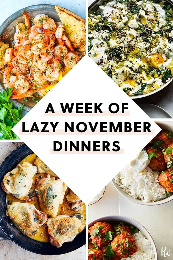 Here's What to Cook Every Night This Week (November 12 - 18)