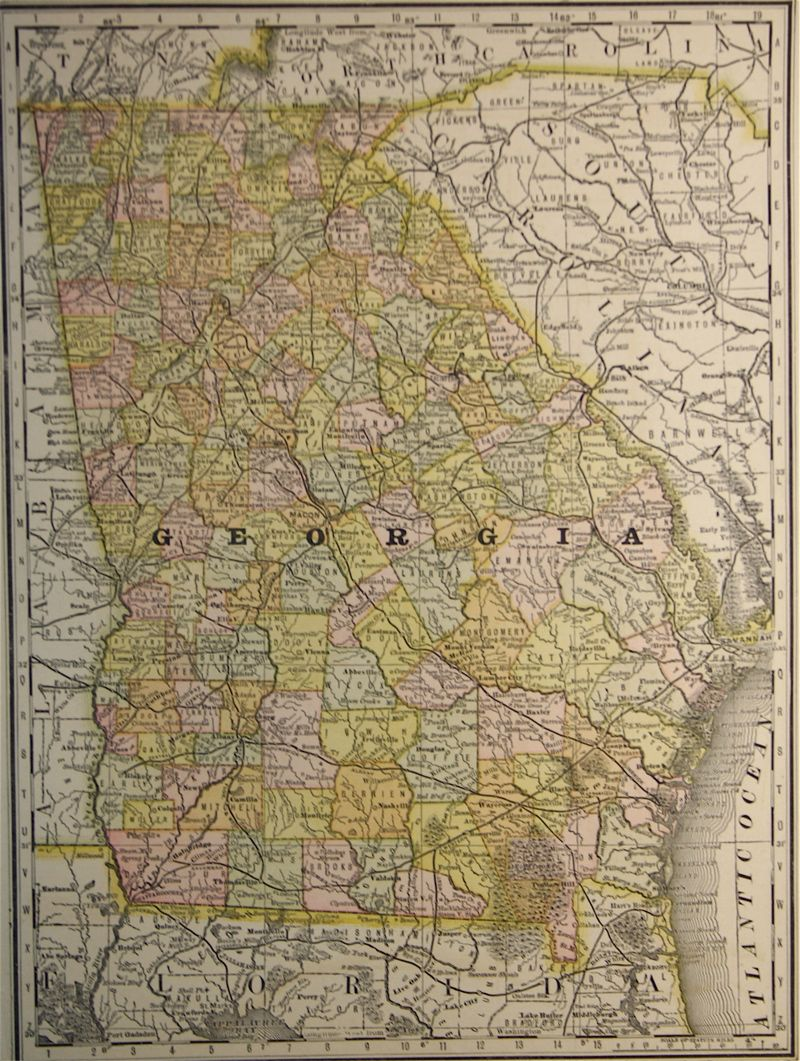 McNally Map of Georgia 1897