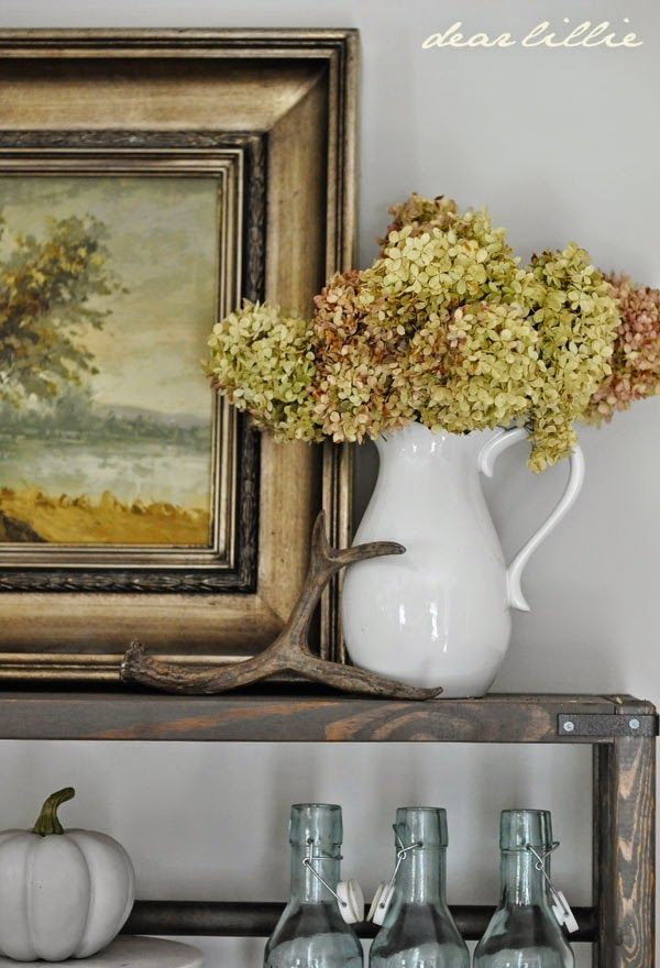 Like this for an entry table. Dear Lillie: Early Fall House Tour
