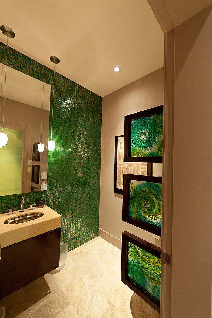 Idées Décoration pour une salle de bain verte | Decorating ideas ...