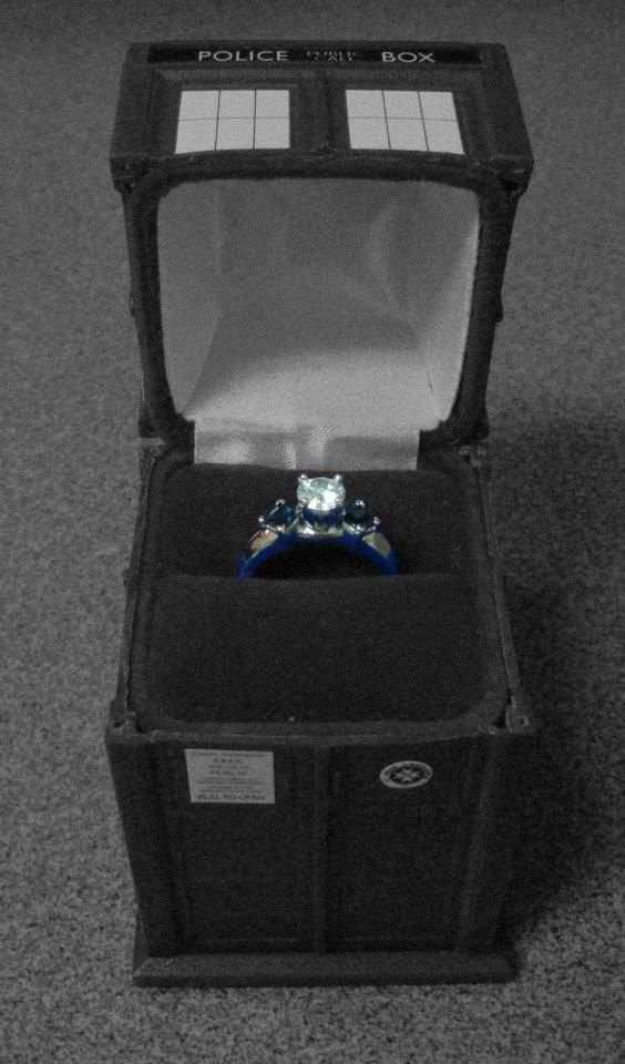 A proposal AND a Tardis? It's every Doctor Who geek girl's dream!  I would definitely say YES to the man who did this for me!