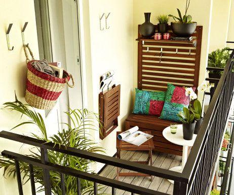 Espacios para guardar en el balcón