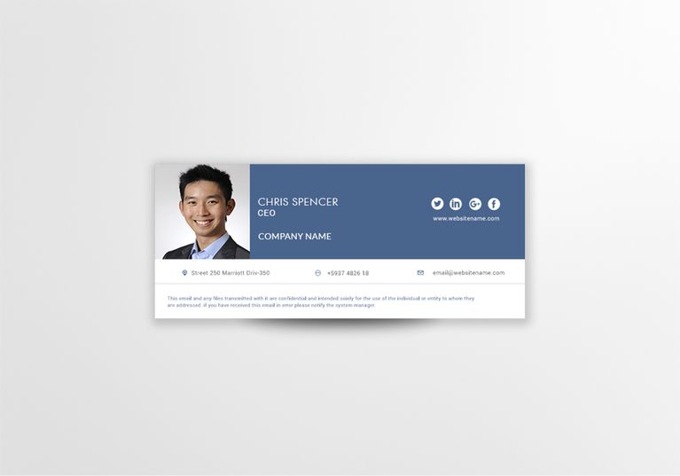Ceo Email Signature Template Email Signature Templates Email Signature Design Commercial Printing