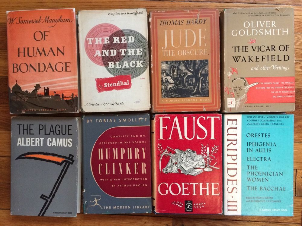 Vintage Lot 8 Modern Library Classics Hc Dust Jackets Maugham