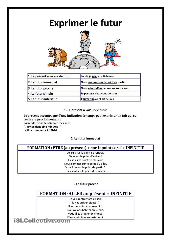 EXPRIMER LE FUTUR | Französisch