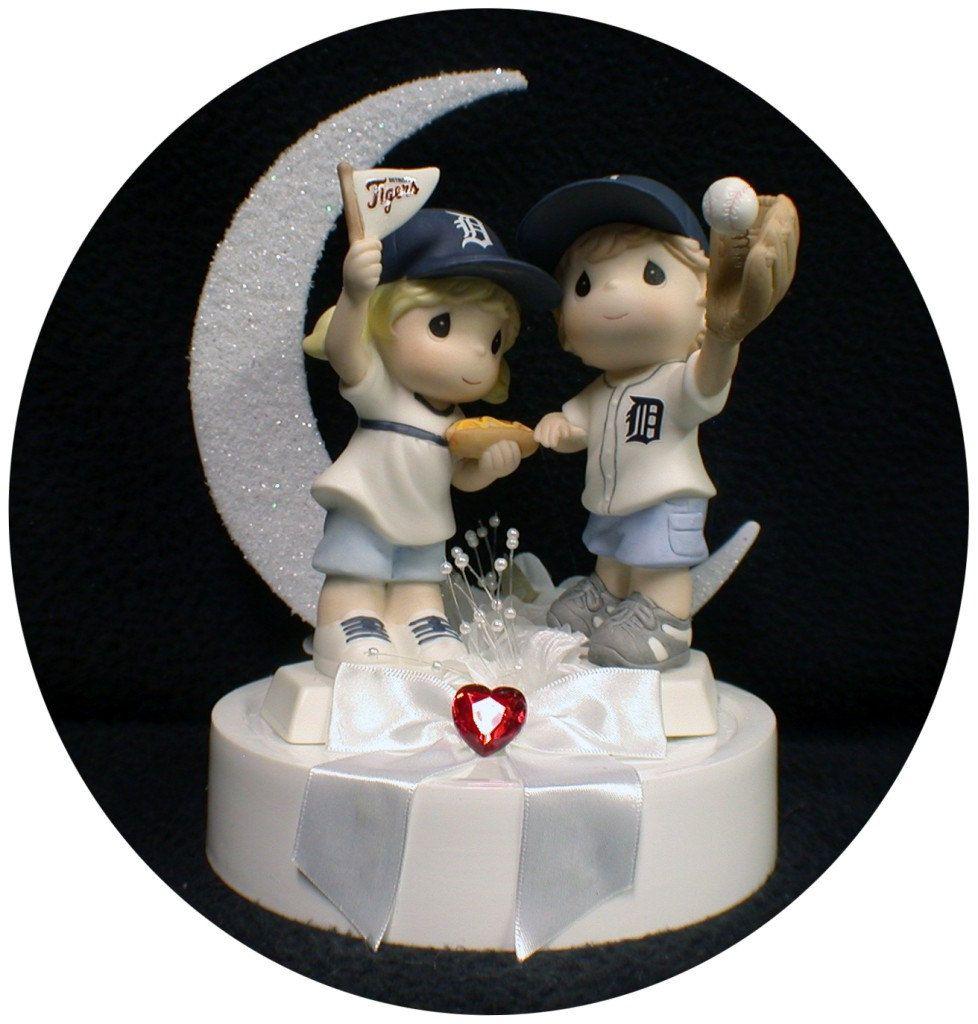 Michigan Detroit TIGERS Baseball FANS Wedding Cake Topper
