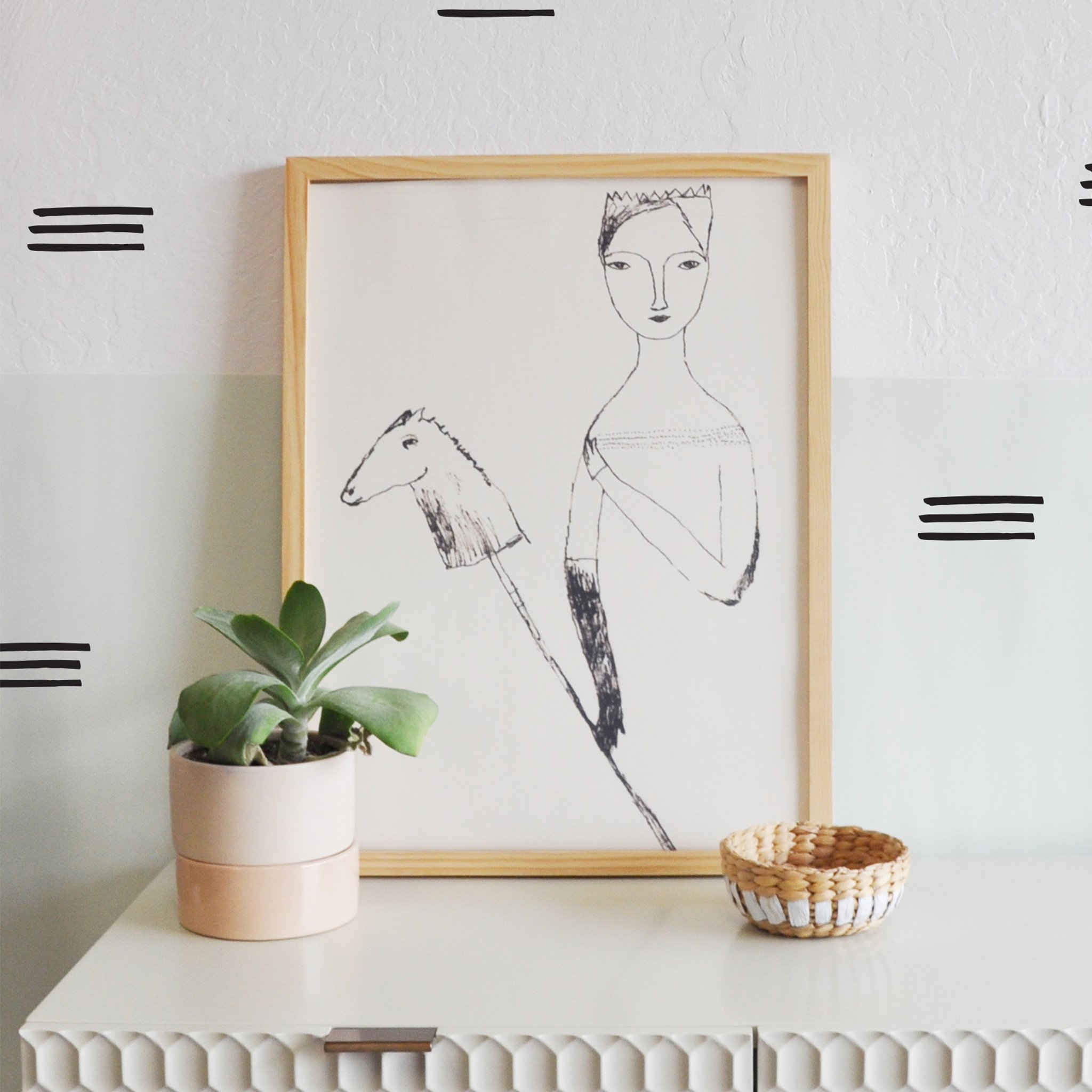 Wall Decal Marked Stripes Wall Sticker Room Decor Wall