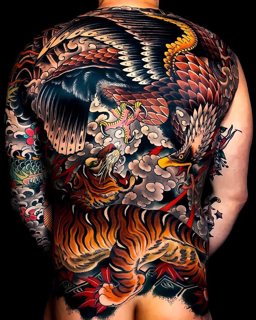 Japanese Ink On Instagram Japanese Back Tattoo By Mikerubendall Japaneseink Japanesetattoo Back Tattoos For Guys Tattoos For Guys Dragon Sleeve Tattoos
