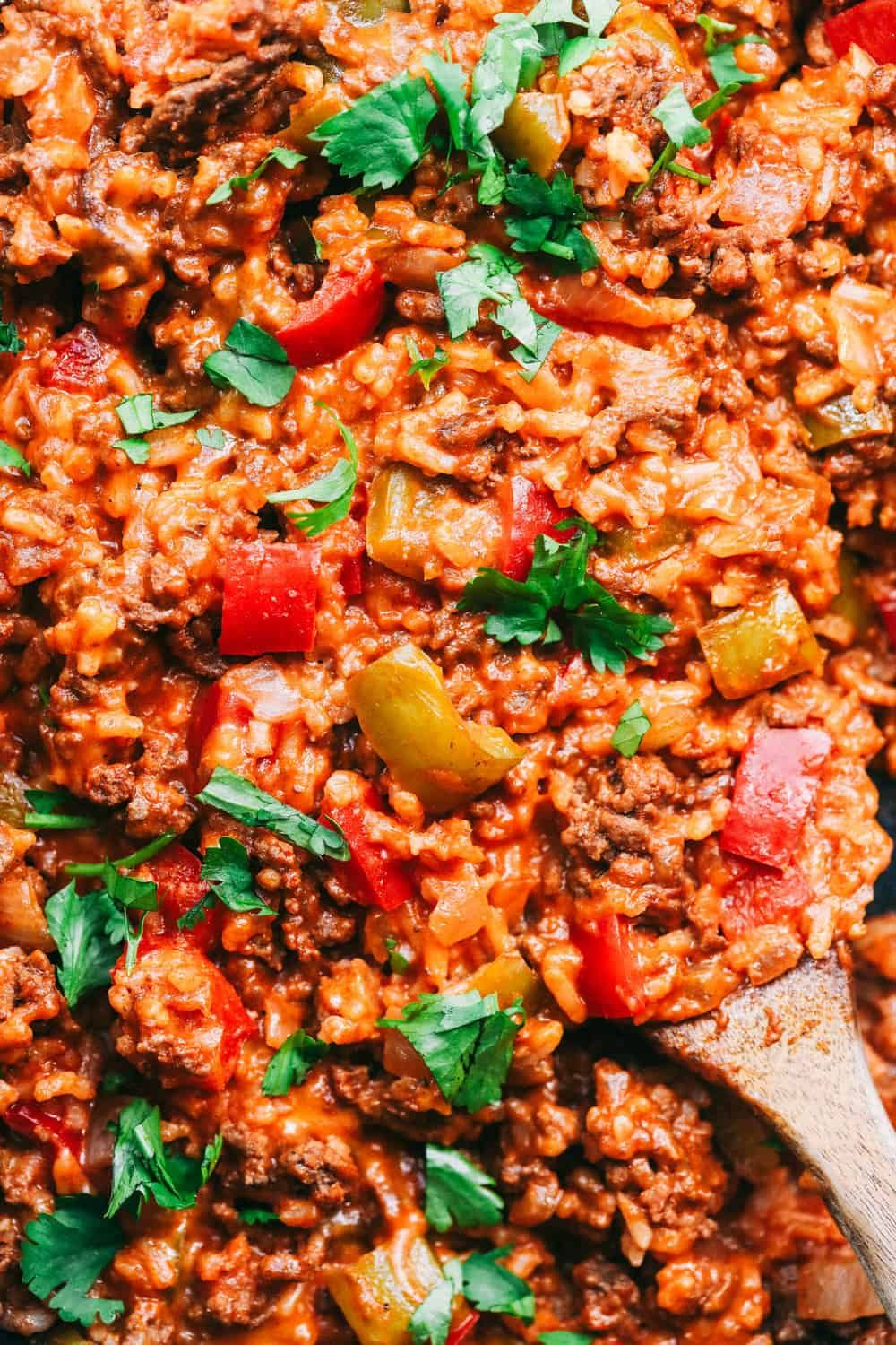 Unstuffed Pepper Skillet Has All Of The Things That You Loved About A Stuffed Pepper In An Easy T In 2020 Stuffed Peppers Unstuffed Peppers Ground Beef Recipes Skillet