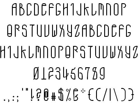 A.D. MONO font by Matt Denton - FontSpace