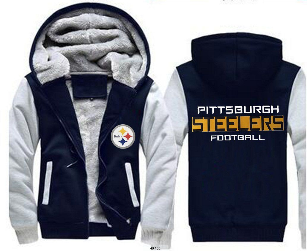 new concept a57e0 60bb2 NFL Pittsburgh Steelers Zip Hoodie – Pink-Always | Super ...