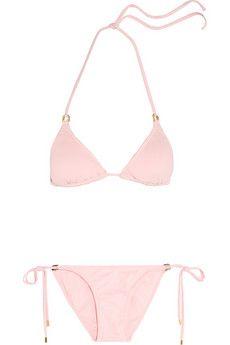 Melissa Odabash Key West triangle bikini | NET-A-PORTER ~Blush pink bikini~J