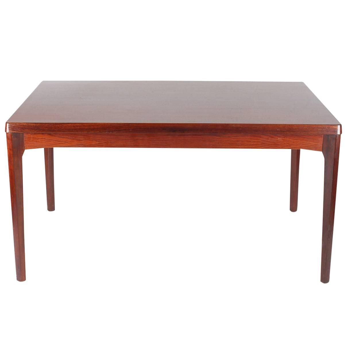 Mid Century Modern Danish Rosewood Dining Table Henning Kjaernulf