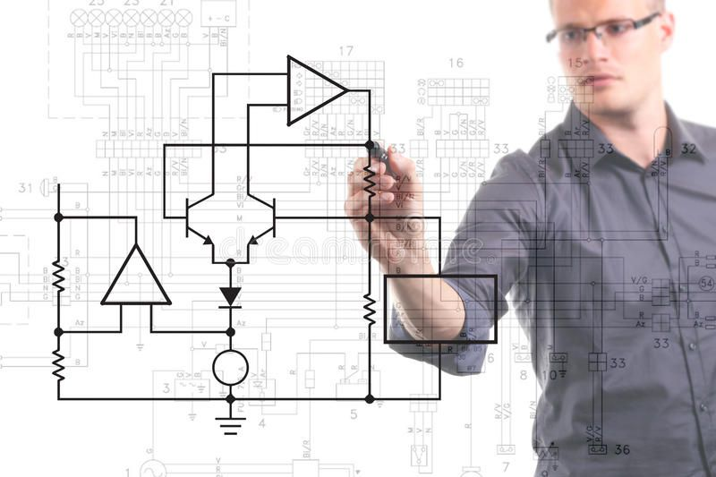 Electrical Engineer Drawing Circuit Diagram On The Whiteboard Affiliate Drawing Eng In 2020 Electrical Engineering Humor Electrical Engineering Circuit Diagram