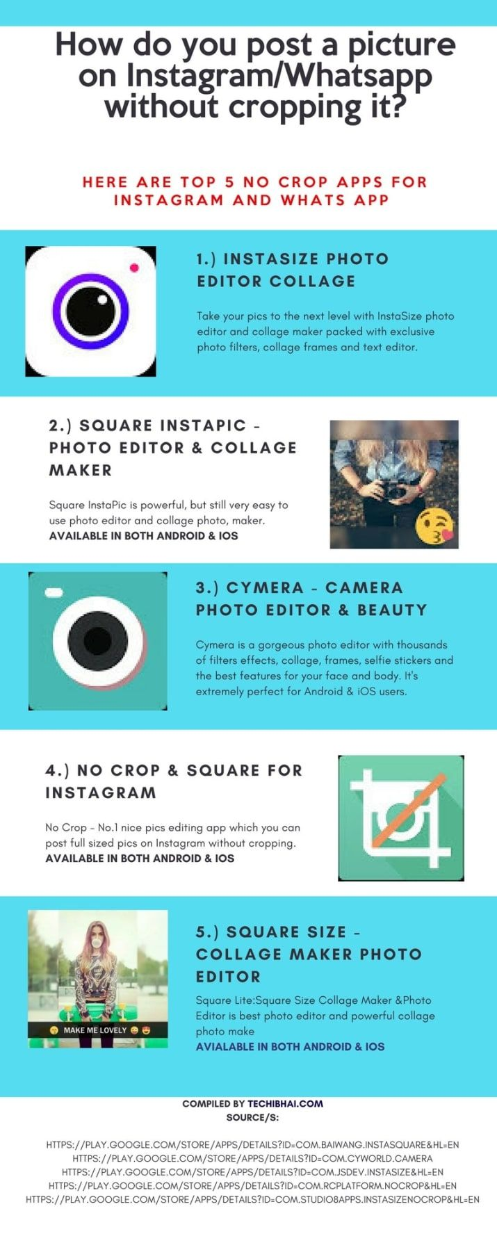 5 Best No Crop Apps For Instagram And WhatsApp Instagram