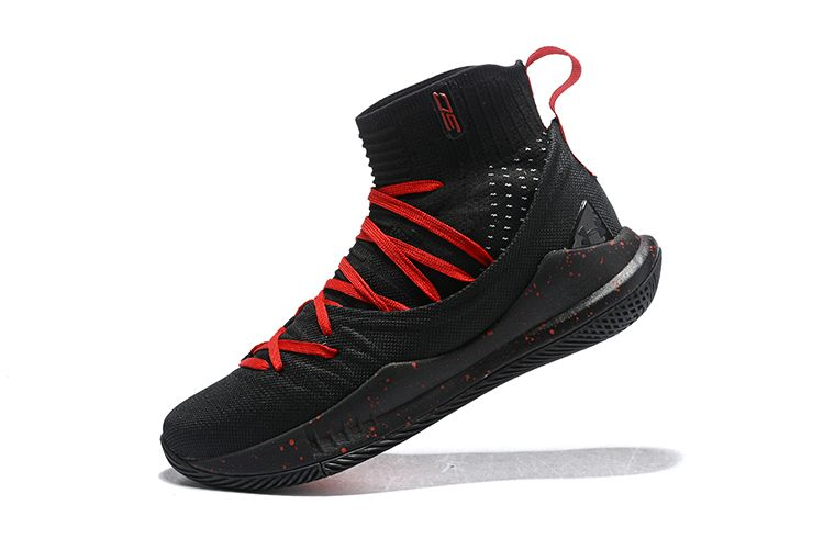 size 40 abb84 5ca14 Purchase Under Armour Curry 5 Black Red Mens Basketball Shoes For Sale