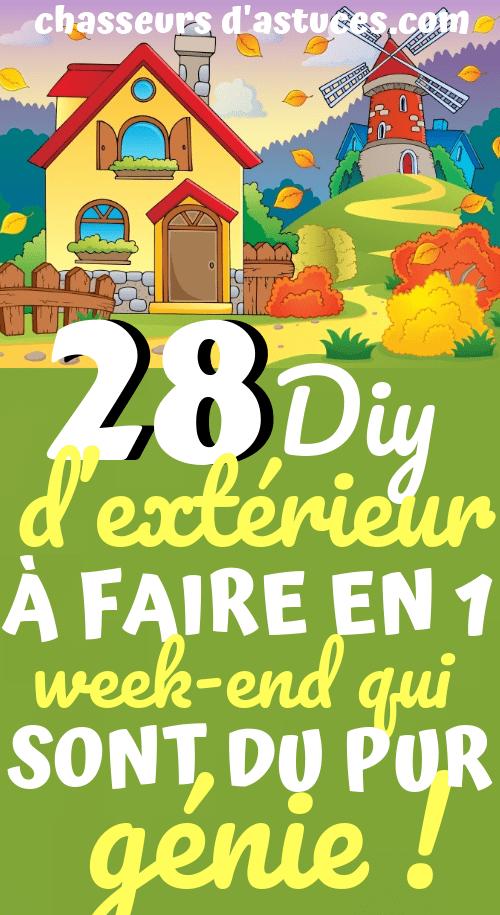 28 Projets Diy d'extérieur à faire en 1 Week-end - qui sont du pur génie | Diy, Extérieur ...