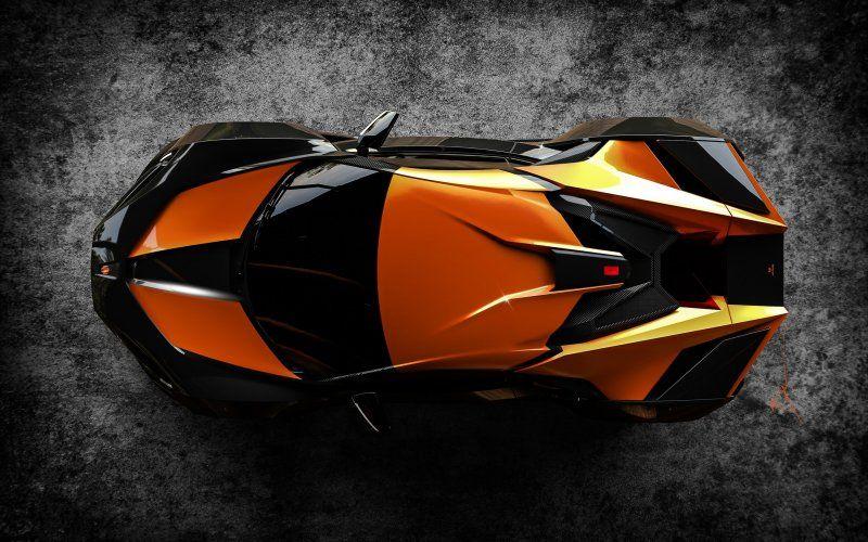 Sprots Car Orange Top View Fenyr Supersport Wallpaper Supersport Car Car Wallpapers Top car wallpaper full hd