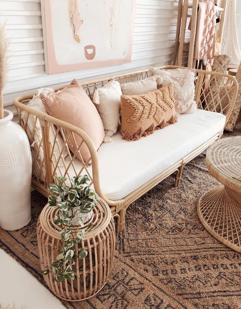 Halcyon sofa  Boho chic living room, Boho living room, Chic