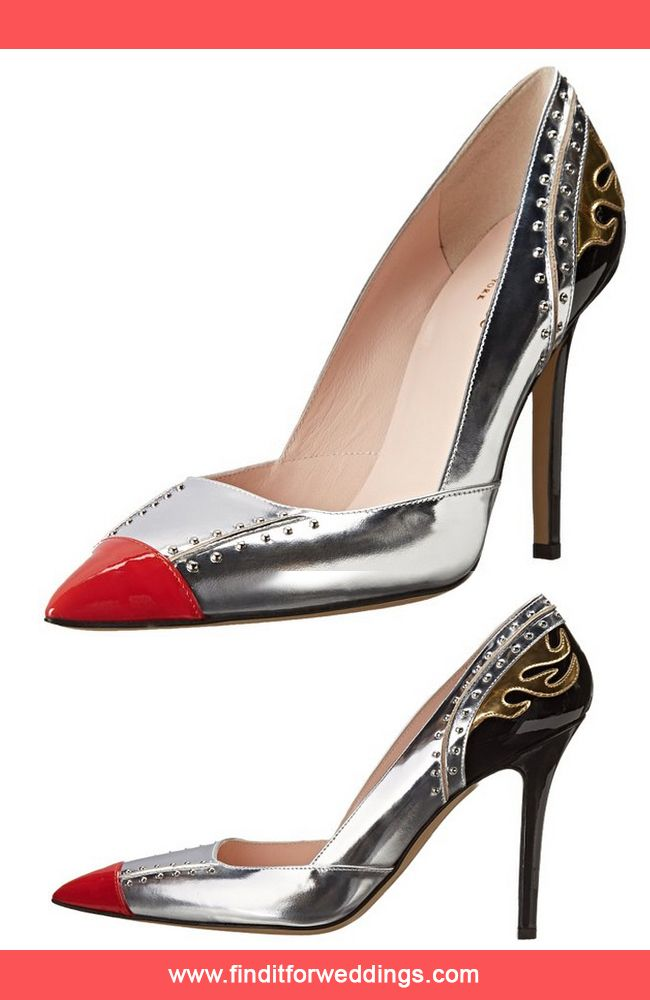 Kate Spade silver and red evening shoes www.finditforweddings.com ...