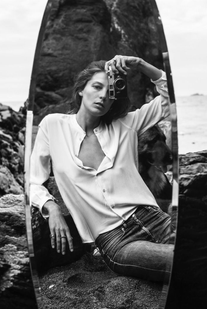 Equipment fall/winter ad campaign 2015 with model muse Daria Werbowy by Daria herself