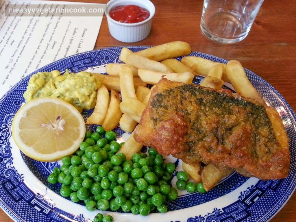 Vegan Fish And Chips In London At The Coach And Horses Vegan Fish And Chips Vegan Fish Fish And Chips