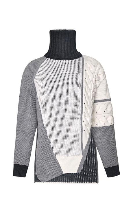 Asymmetrical Mixed Intarsia Sweater by Prabal Gurung - Moda Operandi ...