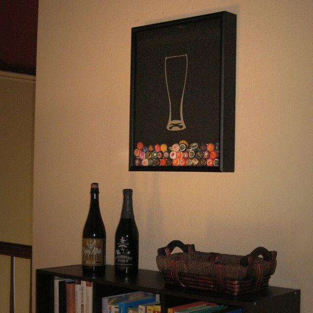 Beer Cap Collector in the home | Crafts | Pinterest | Beer caps ...