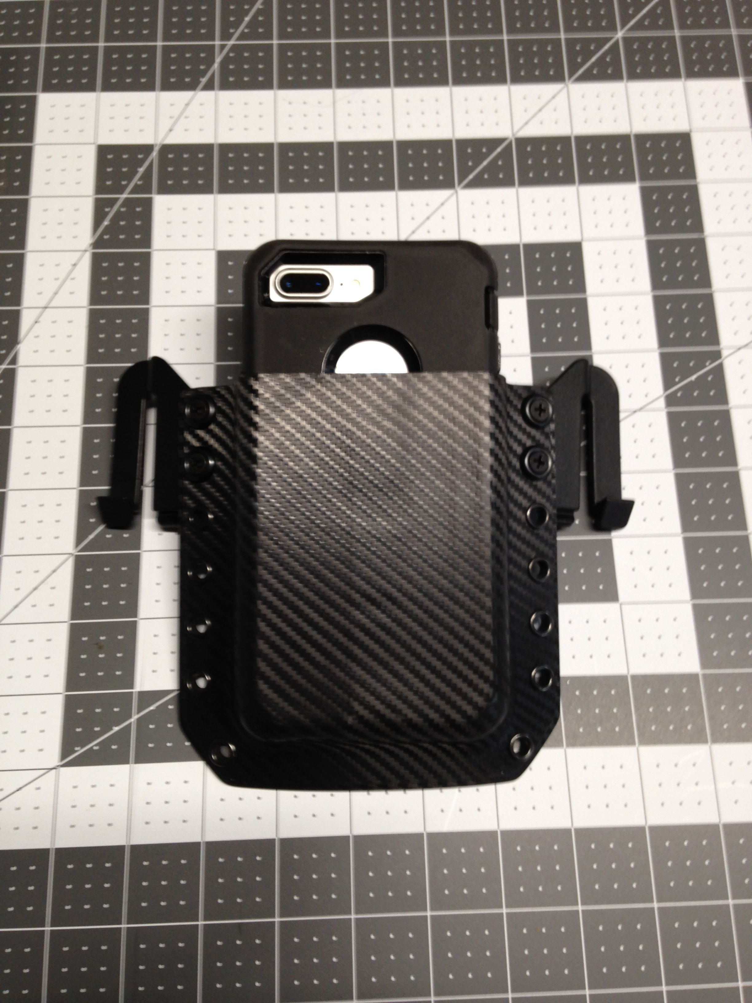 competitive price 77f61 30a08 iPhone 7 plus custom kydex Holster | Cell phone holsters | Phone ...