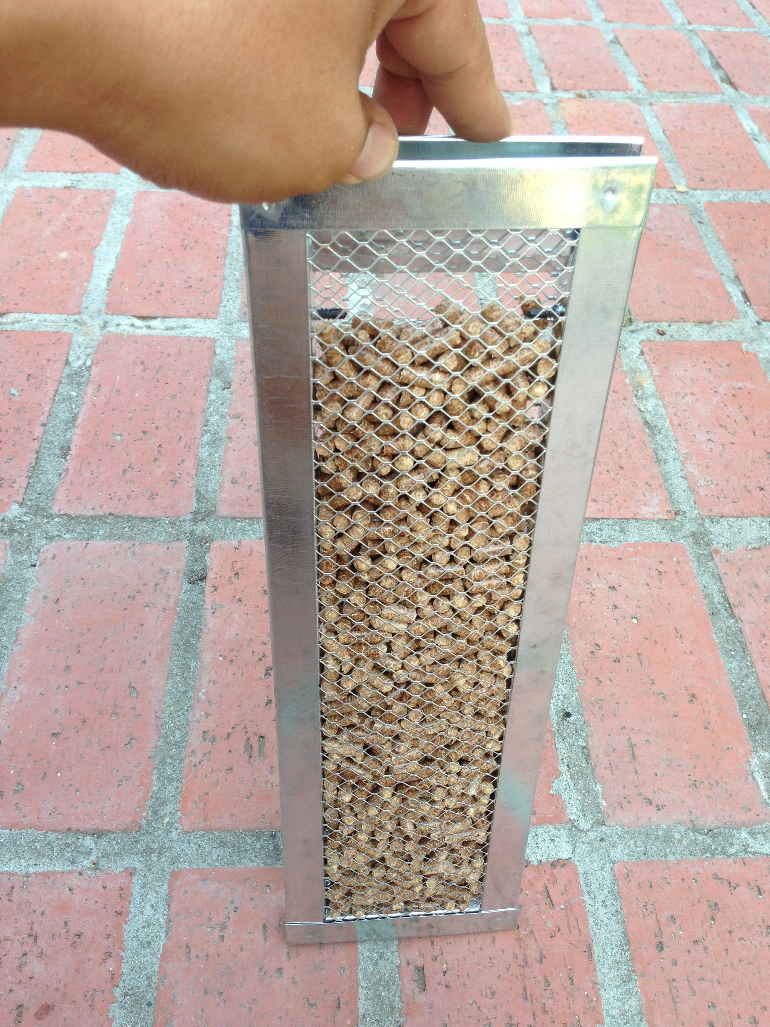 A diy smoke generator built using 2 14x6 foundation vents found at