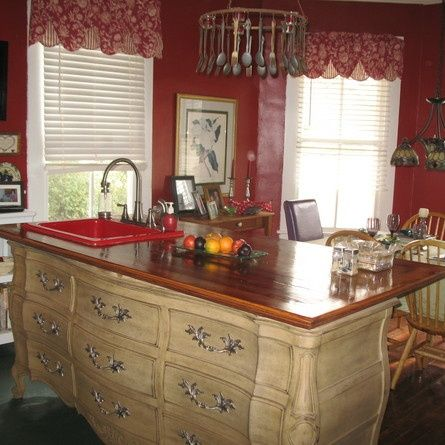 Image Result For How To Turn An Old Dresser Into A Kitchen Island With Sink  | Inspirations For Home | Pinterest.