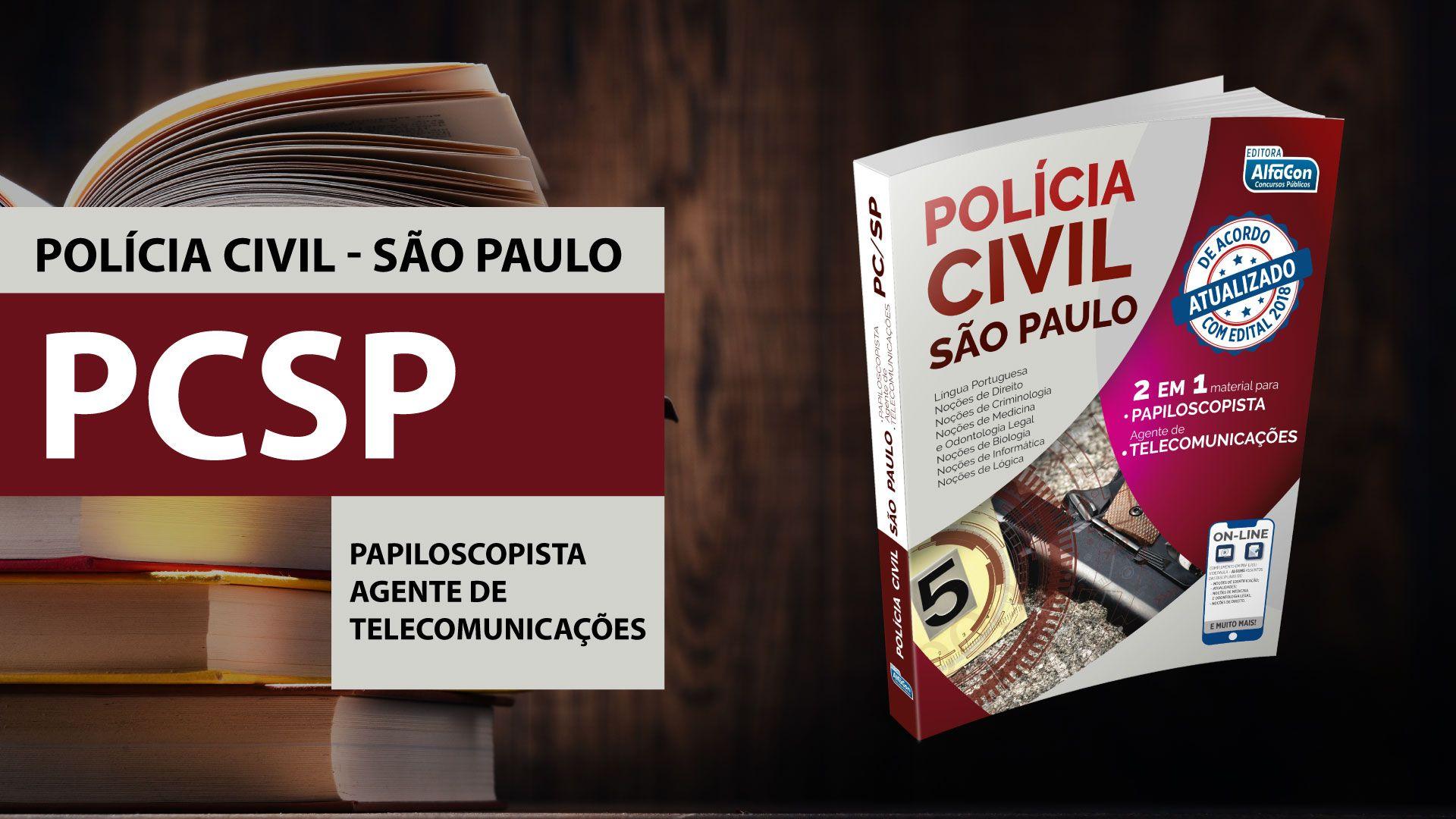 Apostila Policia Civil De Sao Paulo 2 Em 1 Papiloscopista E
