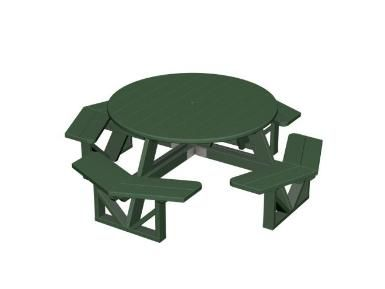 Round Eco Friendly Picnic Table Made From Recycled Plastic And Wont - Recycled plastic round picnic table