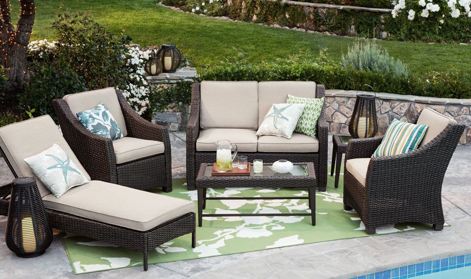 Threshold Belvedere Wicker Patio Furniture Chaise Lounge And Accent Table Target Wedding Catalog