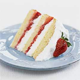 with whipped balsamic whipped cream and strawberry whipped cream cake ...