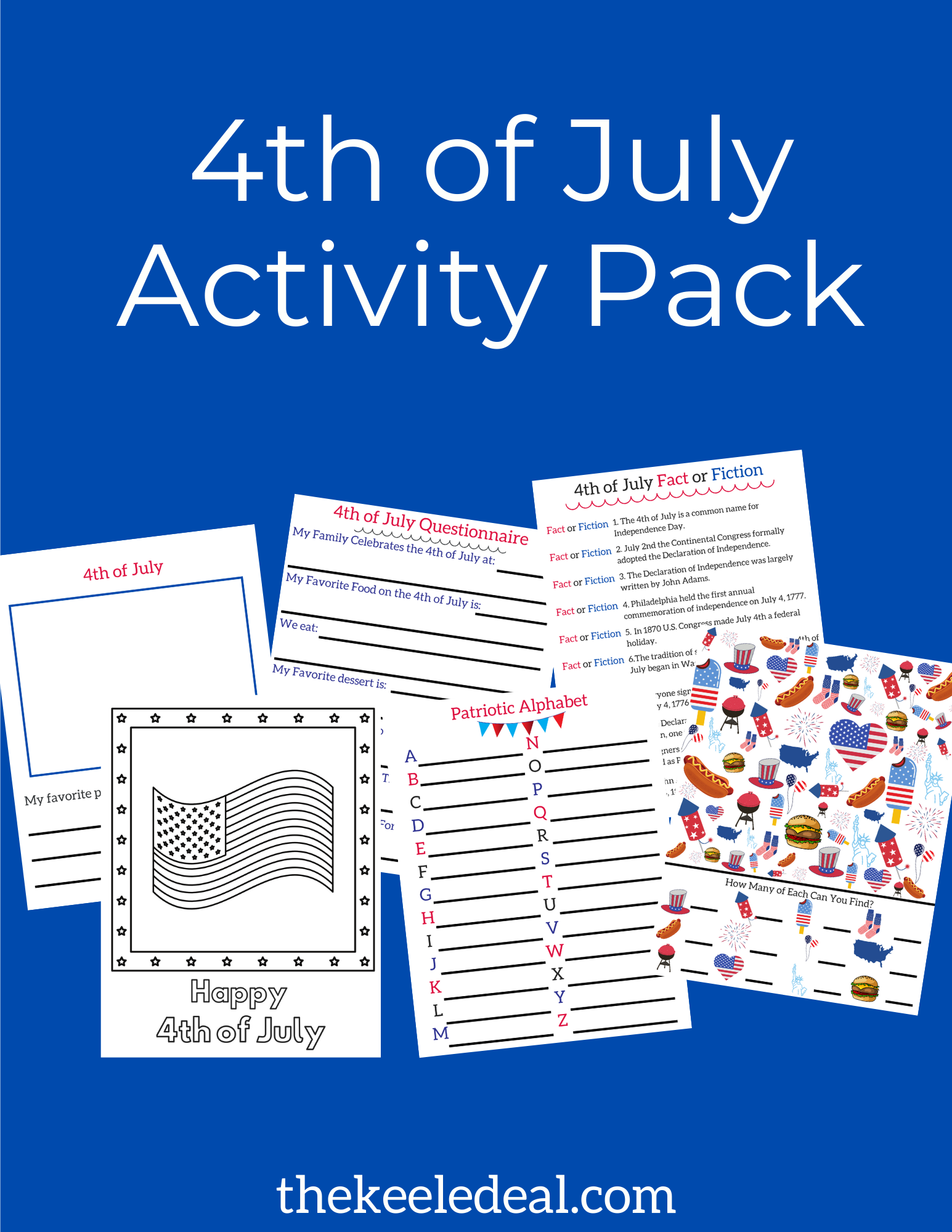 4th Of July Kids Activity Pack Printable Activity Pack Fourth Of July Crafts For Kids Activities For Kids [ 2000 x 1545 Pixel ]