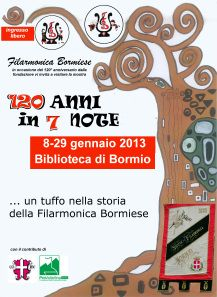 mostra del 120° anniversario della Filarmonica Bormiese c/o Biblioteca Civica di Bormio